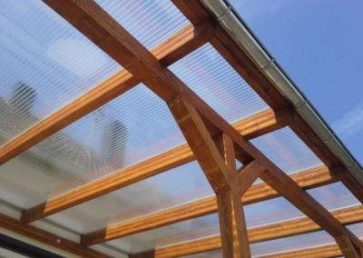 Terrassenüberdachung mit Doppelstegplatten (Small)
