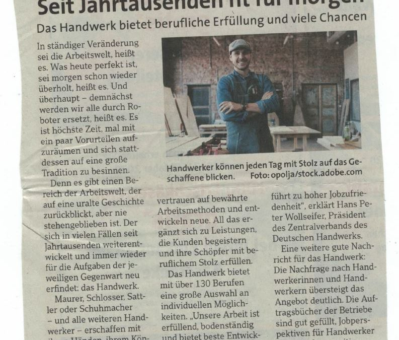 Zeitungsbericht