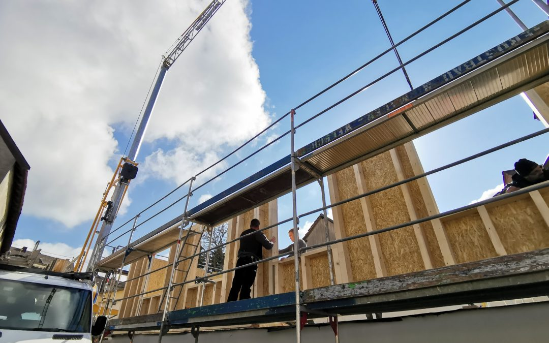 Unser aktuelles Projekt schließen wir demnächst ab, Wohnhauserweiterung